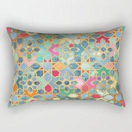Gilt & Glory - Colorful Moroccan Mosaic Rechteckiges Kissen