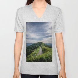 road to heaven Unisex V-Neck