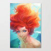 artgerm Canvas Prints featuring Under The Sea by Artgerm™
