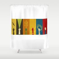 justice Shower Curtains featuring Justice by Danny Haas