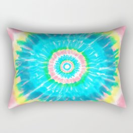 Colorful Tie Dye Shibori Rectangular Pillow