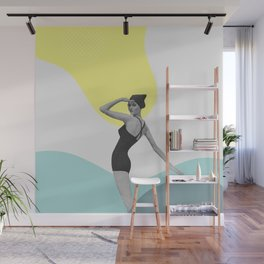 Swimmer Collage Wall Mural