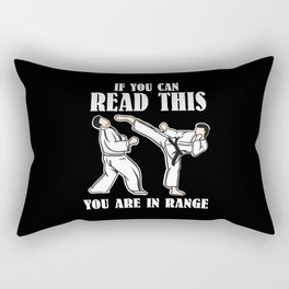 If You Can Read This You Are In Range | Martial Arts Rectangular Pillow