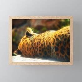 Cheetah fractal animal Framed Mini Art Print