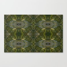 Coconut Leaf Collage Canvas Print