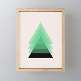 Abstract #18 Green, Black and Beige Framed Mini Art Print