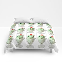 Pistachio Ice Cream Pattern Comforters
