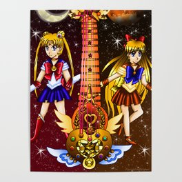 Fusion Sailor Moon Guitar #3 - Sailor Moon & Sailor Venus Poster