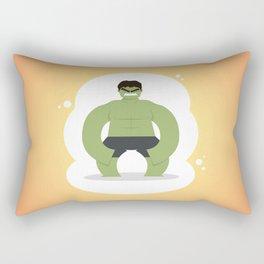 The angriest of the Avenger: Little Hulk Rectangular Pillow
