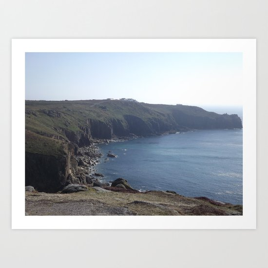 Along The Cliff Edge! Art Print