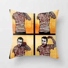 The Zombie Mime! Throw Pillow