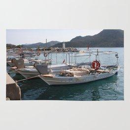 Turkish Fishing Boats Moored at Bozburun Rug