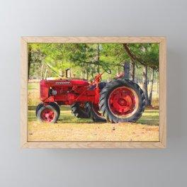 Old Red Farmall Framed Mini Art Print