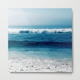aqua foamy sea Metal Print
