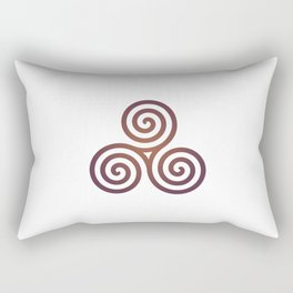 St. Patrick's Day Celtic Red Triskelion #1 Rectangular Pillow