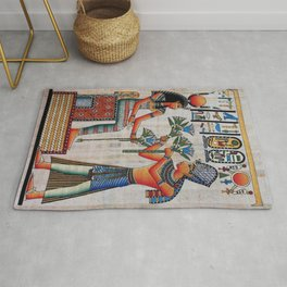 Isis On Papyrus Rug