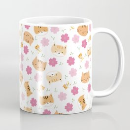 Moew play with floral and plants Coffee Mug