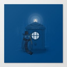 Dr Who Who? Canvas Print