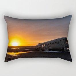 The plane wreck in Solheimasandur, Iceland Rectangular Pillow