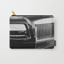 Rolls Grille // Black Luxury Car Close Up Photography Expensive Ultra Wealthy Autos Carry-All Pouch