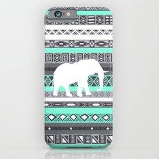 Tiffany Aztec White Elephant Pattern Design Slim Case iPhone 6