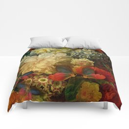 """Baroque Spring of Flowers and Butterflies"" Comforters"