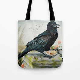 Breakfast With the Raven Tote Bag