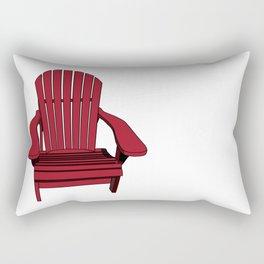 Sit back and relax in the Muskoka Chair Rectangular Pillow