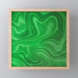 Green Swirl Marble Framed Mini Art Print