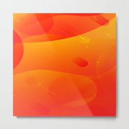 Colorful Orange Abstract Art Design Metal Print