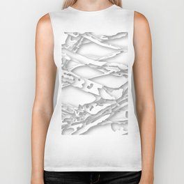 wild white areas Biker Tank