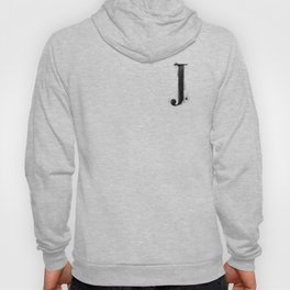J. - Distressed Initial Hoody