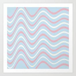 Retro Waves Design Art Print