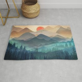 Wilderness Becomes Alive at Night Rug
