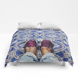 Art Beneath Our Feet - Ancona, Italy Comforters
