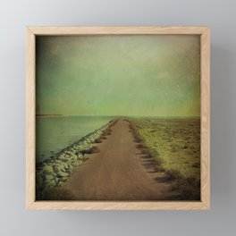 The end of the road Framed Mini Art Print