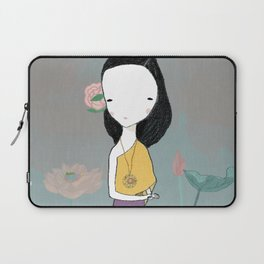 Girl with water lilies Laptop Sleeve