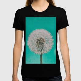 Green Blue Dandelion T-shirt