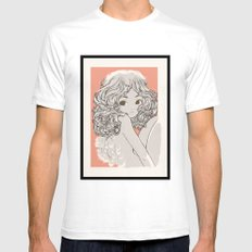 Engelchen White SMALL Mens Fitted Tee