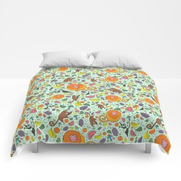 Cute Monkeys and Fruit Comforters