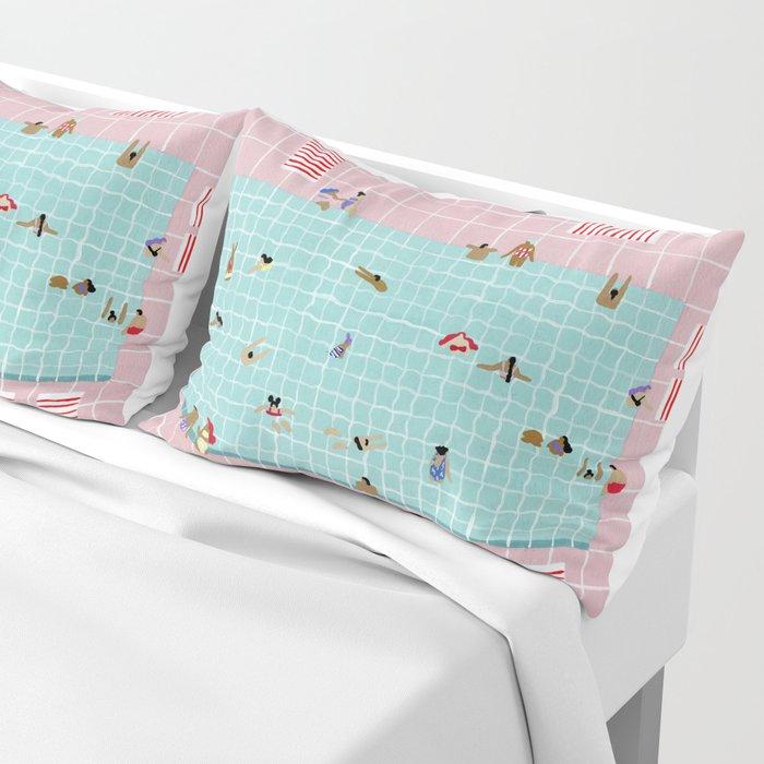 Pink Tiles Pillow Sham