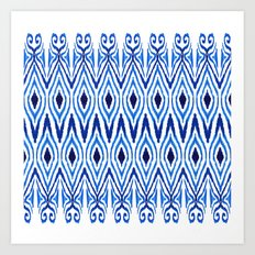 Ikat Blue Art Print