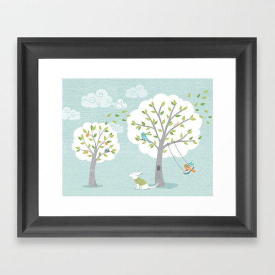 Windy Day Framed Art Print