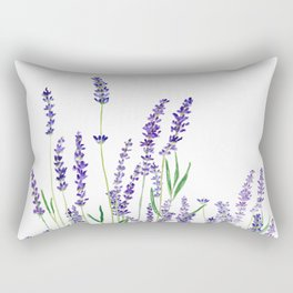 lavender watercolor horizontal Rectangular Pillow