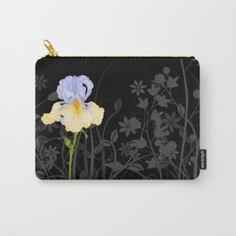 Iris Blue Yellow Carry-All Pouch