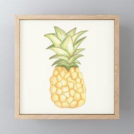 Summer Pineapple Framed Mini Art Print