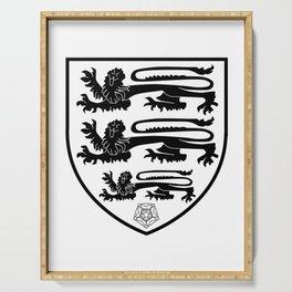 British Three Lions Crest Serving Tray