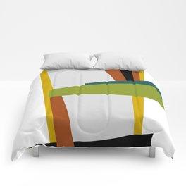 Mid Century Composition 2 Comforters