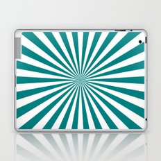Starburst (Teal/White) Laptop & iPad Skin