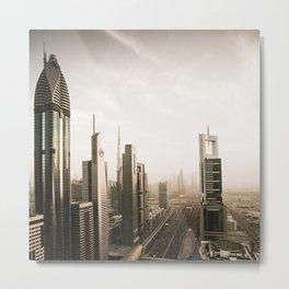Dubai sky line. Futuristic Cityscape. Metal Print